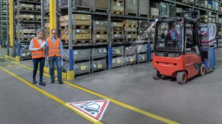 TruckSpot from Linde Material Handling on a forklift truck