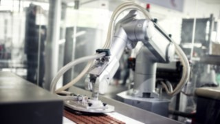 robots in use in production
